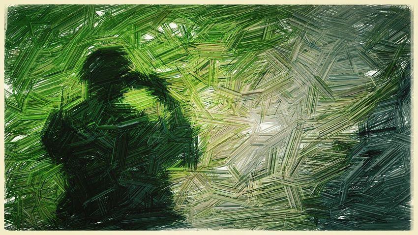 ชะโงกดูเงาตัวเอง Art Art Yourself Digital Art Digital Painting