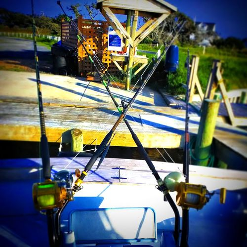 Saltwater Fishing Saltwaterr Offshore Fishing Bigtahunacharter Bentbuttrod Close-up Sky Boat First Eyeem Photo
