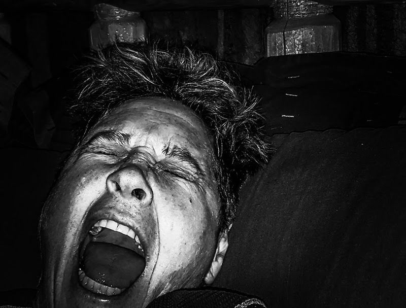 B&w Bad Dream  Bedtime Close-up Dreaming Dreams Face Showcase: November Frightened  Front View High Contrast Nightmare Nighttime One Person Open Mouth Person Portrait Ptsd Scared Face Screaming Serious Faces In Places Wakeup Woman In Scared State Yelling Uniqueness Love Yourself