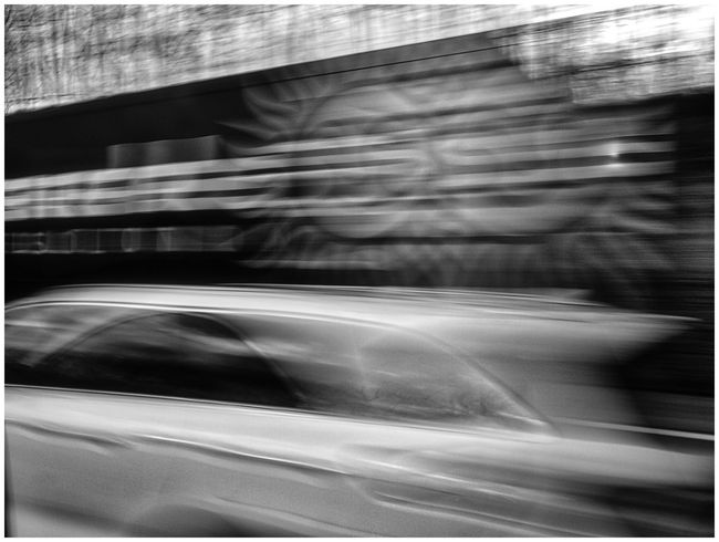 on the road Black & White Blurred Motion Car Driving Driving Fast Fast Movement Fast Moving Cars Highway Light And Shadow Mirroring On The Road Reflection