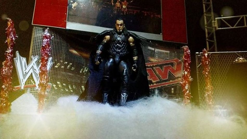 You can feel the chill in the arena as The Deadman walks through the fires of Hell. Undertaker  Wwe Mattel Wwemattel Wrestling Wrestlingfigs Wrestlingfigures Wrestlingfigurephotography Actionfigurephotography Actionfigures Toys Toyphotography