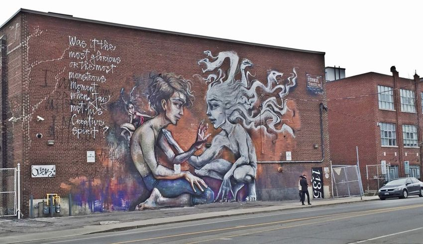 Was it the most glorious or the most monstrous moment when he met his creative spirit? ~ Toronto Graffiti