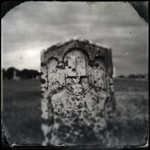 Graveyard Beauty Cemetery Wanderings Black & White Hipstamatic