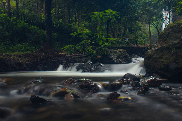 River near coban rondo waterfall