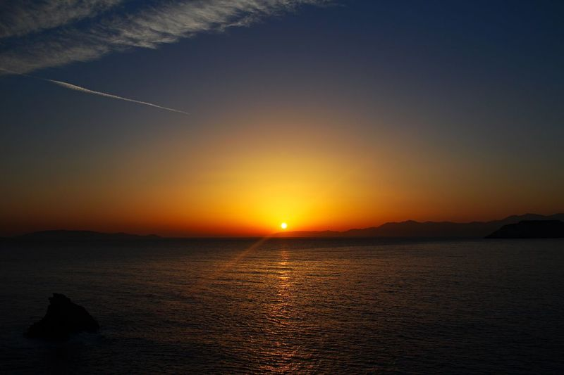Harmony Sunset Beauty In Nature Nature Scenics Sea Orange Color Sun Tranquility Water Tranquil Scene Sky No People Silhouette Outdoors