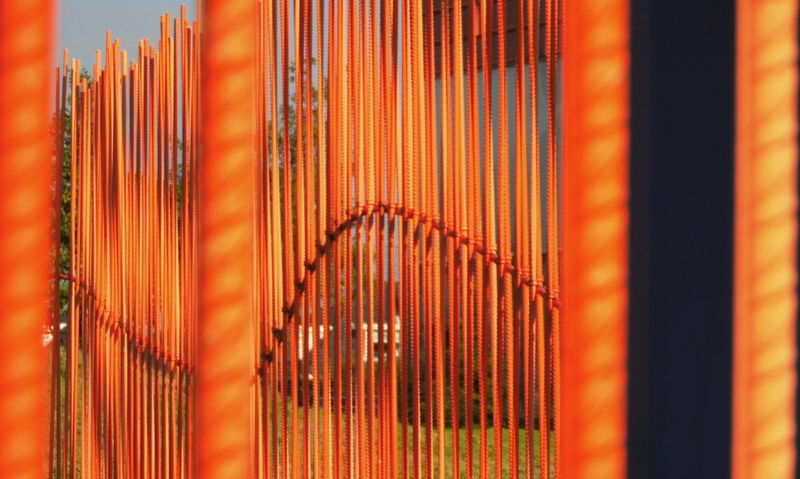 Abstract Close-up Colors And Patterns Day Fences Full Frame Multi Colored Orange Color Pattern