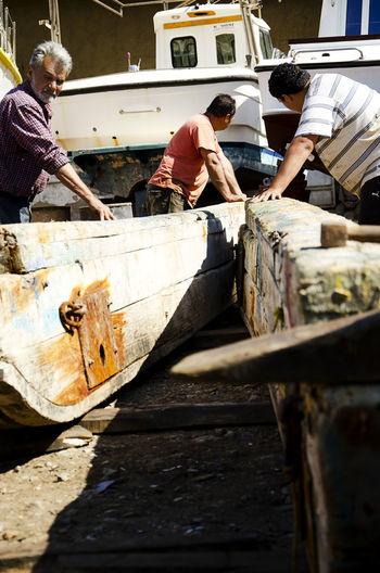 Greece Islands Greek People Hardwork Kalymnos Kalymnosisland People Working People Working Together Ships Workshop