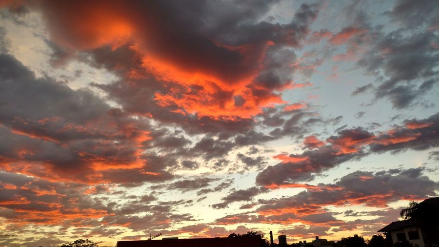Sunset Multi Colored Red Awe Beauty Dramatic Sky Backgrounds Orange Color Silhouette Sky