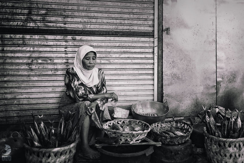 Fish Seller People Black And White Street Photography Everyday Lives
