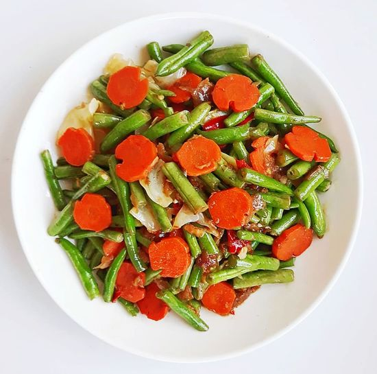Love Food Foodphotography I Lovecooking Carrot French Bean Sarawak Food Fruit Healthy Lifestyle Red High Angle View Salad