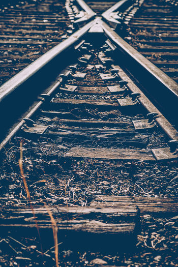 Aged Architecture Built Structure Canadian National Railway City Connection Diminishing Perspective Distressed High Angle View Metal Outdoors Pattern Railroad Ties Railroad Track Railroad Tracks Road Rusty Showcase April Street Sunlight The Way Forward The Week On EyeEm Transportation Vanishing Point Vintage