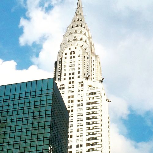 Chrysler building NYC Built Structure Architecture Building Exterior City Skyscraper Tall - High Tower Modern Travel Destinations Office Building Sky City Life Building Story Low Angle View Development Outdoors Cloud - Sky Spire  Cloud Capital Cities