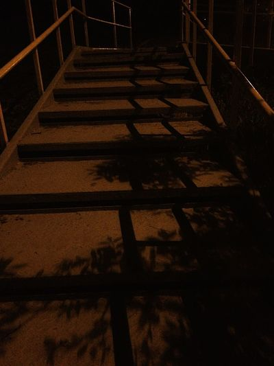 Steps And Staircases Railing Staircase Steps Shadow Indoors  No People Night Hand Rail