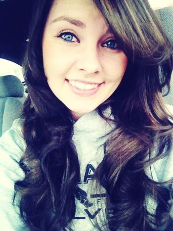 Love Curly Hair! Blue Eyes New Hair :)