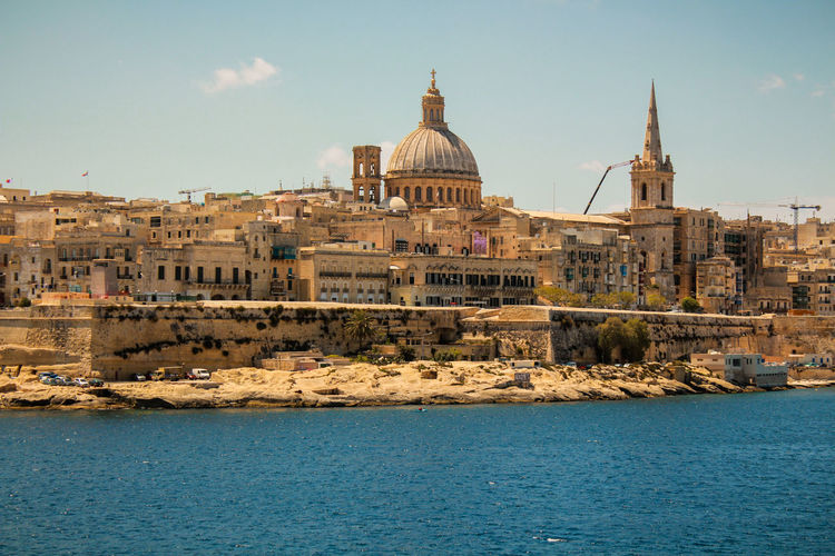 Architecture Building Exterior Built Structure City Day Dome History Malta Malta Architecture Maltaphotography Malta♥ No People Outdoors Sea Sea And Sky Sky Travel Destinations