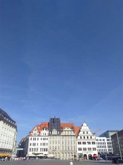Leipzig Germany Sommer Summer Marktplatz Deutschland Blue Sky Blauer Himmel