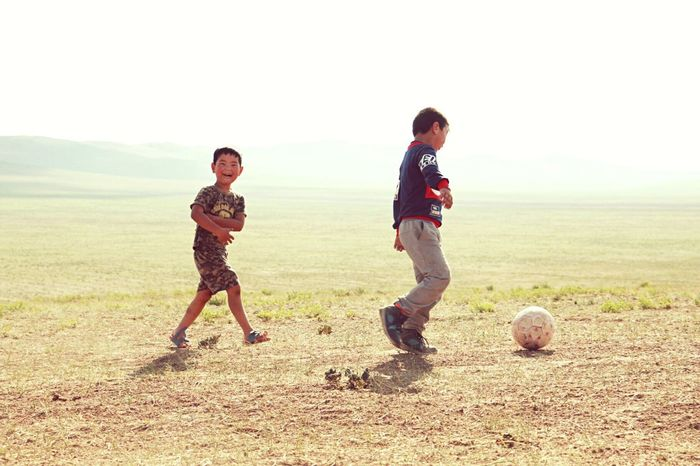 Footballin in Mongolia. Check This Out Traveling People Enjoying Life Taking Photos Hanging Out Travel Photography Portrait Taking Photos Place Of Heart Colors Travel Photography Moment Live For The Story Sunlight