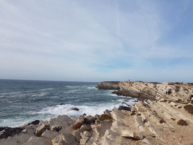 Sea Beach Horizon Over Water Sand Nature Rock - Object Tranquility Sky Water Tranquil Scene Outdoors Day Scenics Blue Beauty In Nature No People Portugal Baleal Peniche
