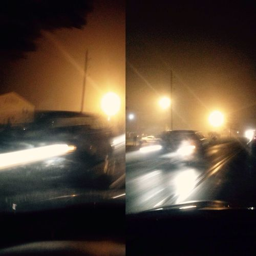 driving fast in foggy weather Latenightdrives