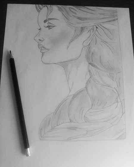 Picture Draw My Drawing Art Art, Drawing, Creativity Face Faces Of EyeEm Mouth Nouse Hair Blackandwhite Image Eyes Pencil Women
