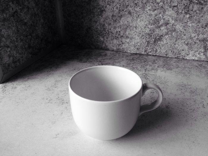 Emptycup Cup Blackandwhite Dark
