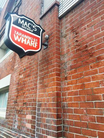 Macs brewbar sign Bar Bricks Brick Wall Sign Bar Sign