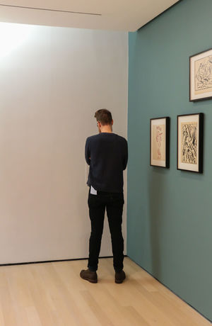 One Man Only One Person Rear View One Young Man Only Standing Adult Business Moma MoMA New York Modern Art New York Museum Of Modern Art NYC Museum Hipster Visitor Corner NYC Photography NYC Nycphotography