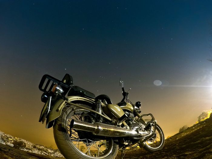 Bullet Sky Low Angle View Motorsport Nature Night Stars