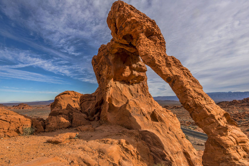 Valley Of Fire Arid Climate Beauty In Nature Cloud - Sky Day Elephant Rock Elephant Rocks Geology Landscape Nature No People Outdoors Physical Geography Rock - Object Rock Formation Scenics Sky Sunlight Tranquil Scene Tranquility Travel Destinations