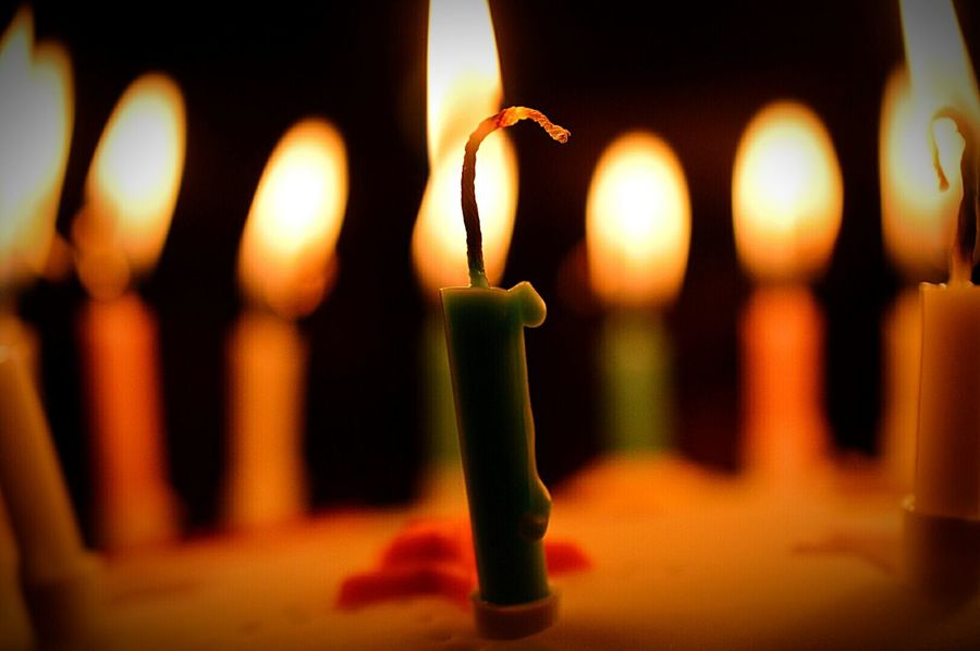 Burning Candles Candles Candle Wax Candle Flame Candle Light Birthday Cake Son's Birthday Sweet Sixteen Macro Macro Photography Nikon D3200
