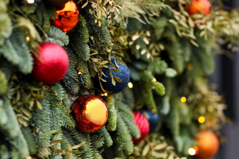 Christmas Christmas Celebration Holiday Decoration Christmas Decoration Christmas Ornament No People Holiday - Event Celebration Event Selective Focus Hanging christmas tree