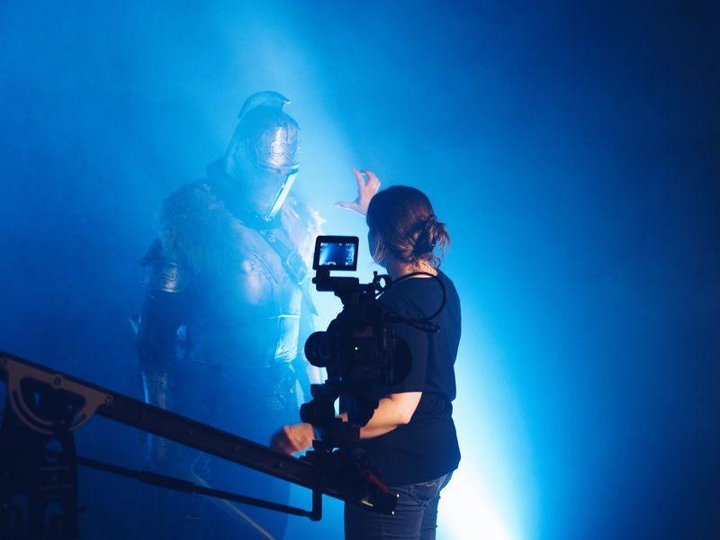 Cinema In Your Life Filmset Filmcamera Scenics Scenery Shots Indoors  Mood Science Fiction Filming Studio Girl Power