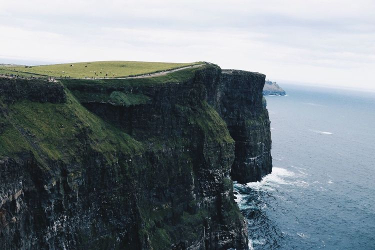 Cliffs of moher by sea