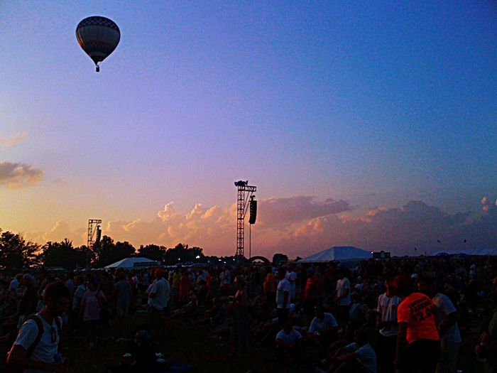 Music Festival Hot Air Balloons Sky Colors Clouds And Sky Bonnaroo