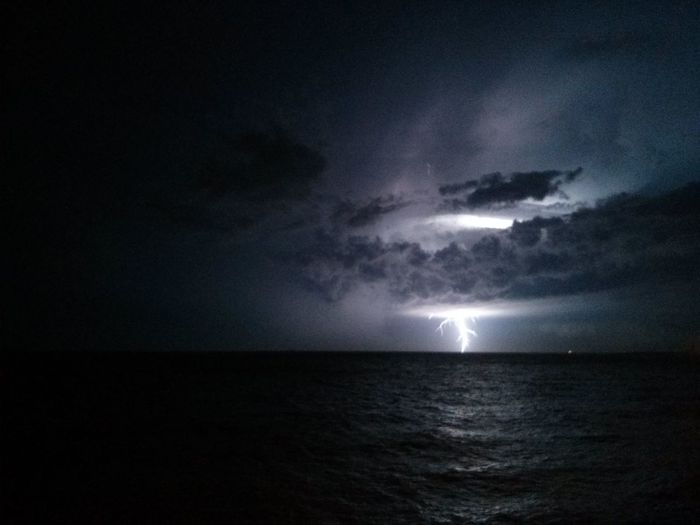 Lightning Storm turned NYE Fireworks near Montevideo. · The EyeEm Facebook Cover Challenge