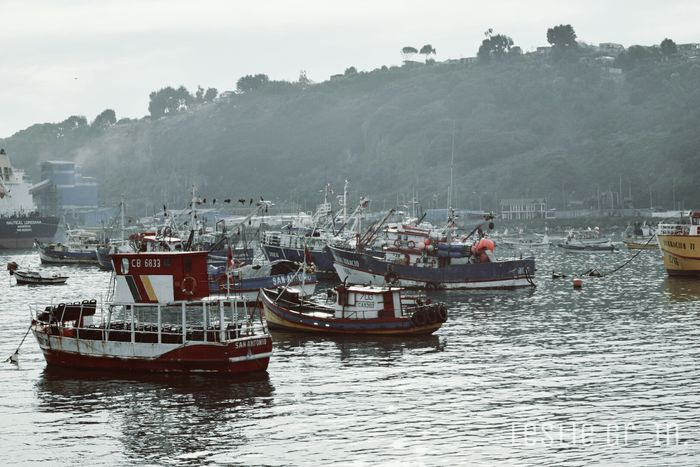 Sanantonio Mar Beach Botes Pescadores Chile Naturaleza Water Leslie_Gr_In Puerto