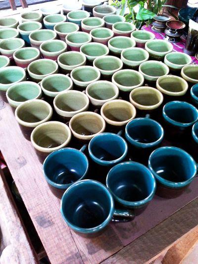 Espresso Cups in Sone Sima Ceramics 089-035-9767 Shopping Hang Dong Handicrafts Baan Tawai Creative Village