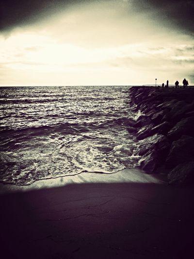 Dusk Beach Silhouette Resting My Feet