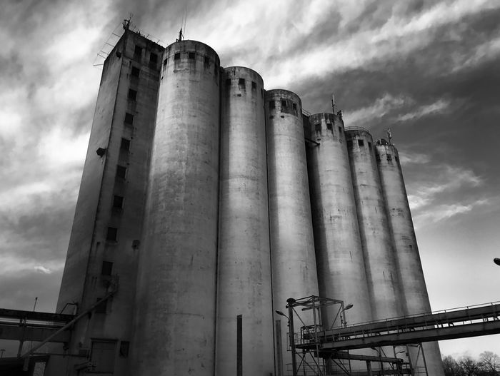 Industry Low Angle View Day Silo Sky Cloud - Sky Factory