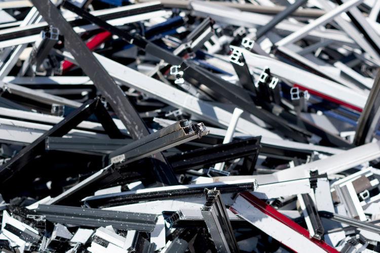 Full frame shot of scrap metals