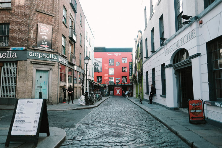 Ireland Ireland🍀 Land Landscape Temple Bar Footpath Building Building Exterior Architecture Built Structure City Street The Way Forward Direction