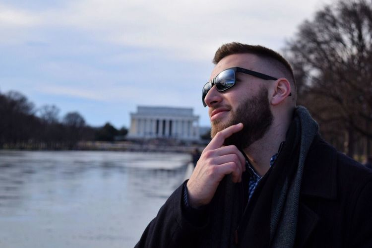 My brother enjoying the views Lincoln Memorial Lincoln Washington, D. C. Washington Pose Model Modeling Looking Into The Distance Tourism Tourist Tourist Attraction  Tourist Destination Fun Brother Malemodel  Sunglasses Mauijim Uniqueness