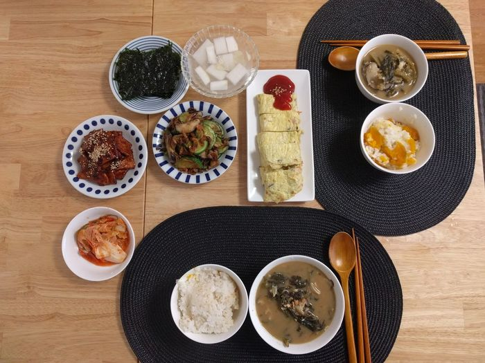 korean meal Korean Korean Food mealtime Meal Food Asianfood Lunch EyeEm Selects Drink Plate Directly Above Table Rice Dish