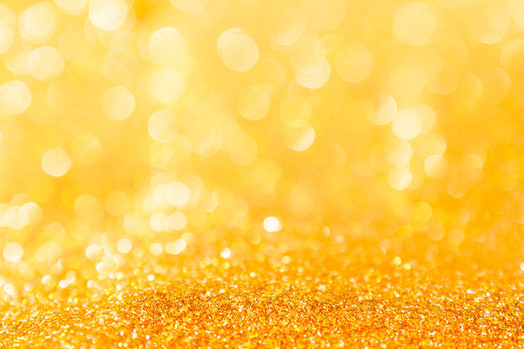Abstract Abstract Backgrounds Backgrounds Bright Brightly Lit Celebration Celebration Event Christmas Copy Space Decoration Defocused Glitter Gold Gold Colored Holiday Holiday - Event Light - Natural Phenomenon No People Ornate Shiny Softness Textured Effect Vibrant Color Yellow