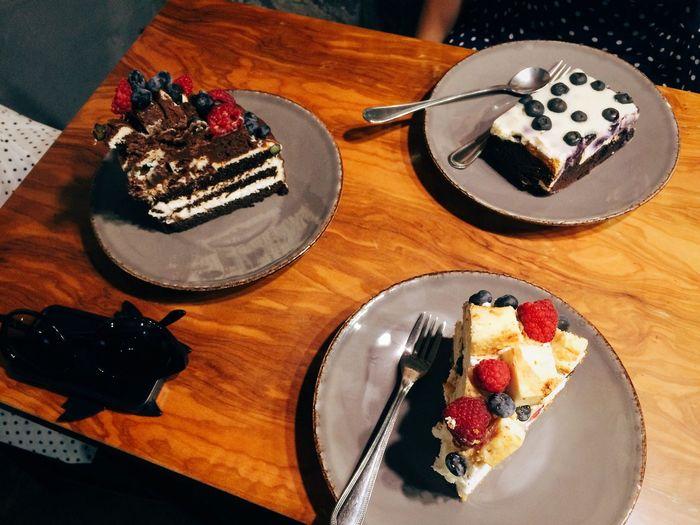 High angle view of food on plate