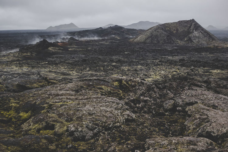 Iceland Krafla Beauty In Nature Environment Geology Geothermal  Landscape Lava Lava Field Moss Mountain Outdoors Physical Geography Rock Rock - Object Scenics - Nature Solid Volcanic Landscape Volcano