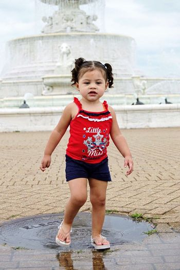 Beach Outdoors Full Length One Person Childhood Summer Day Playing Children Only Water Sky Enjoying Life Detroit Girl Bright Child Fun