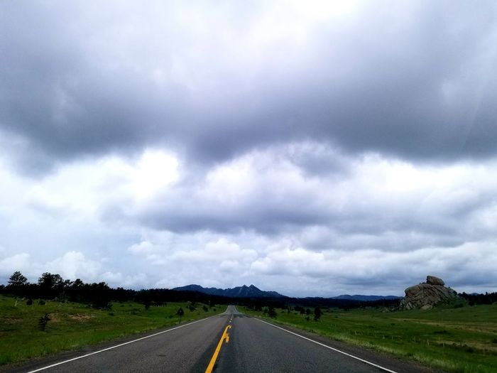 Into The Storm Wyoming Landscape Storm Cloud Road Rural Scene Highway Street Dramatic Sky Sky Landscape Cloud - Sky Empty Road Diminishing Perspective Mountain Road vanishing point
