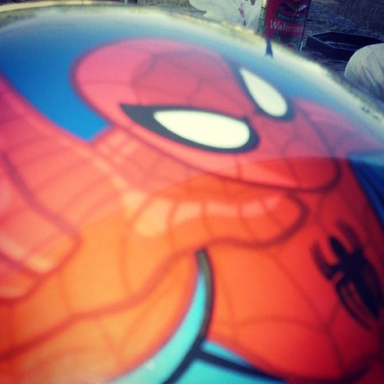 Brother gave me a dead leg so he got me a Spiderman ball to apologize ♡ Awesome Spiderman HASHTAG Lulz