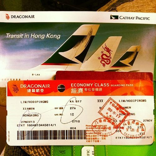 Going to on board... Airport Cathay